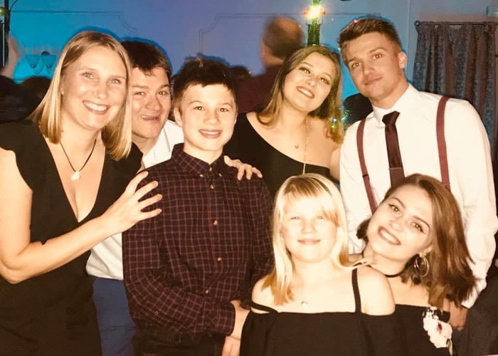 Clare and family