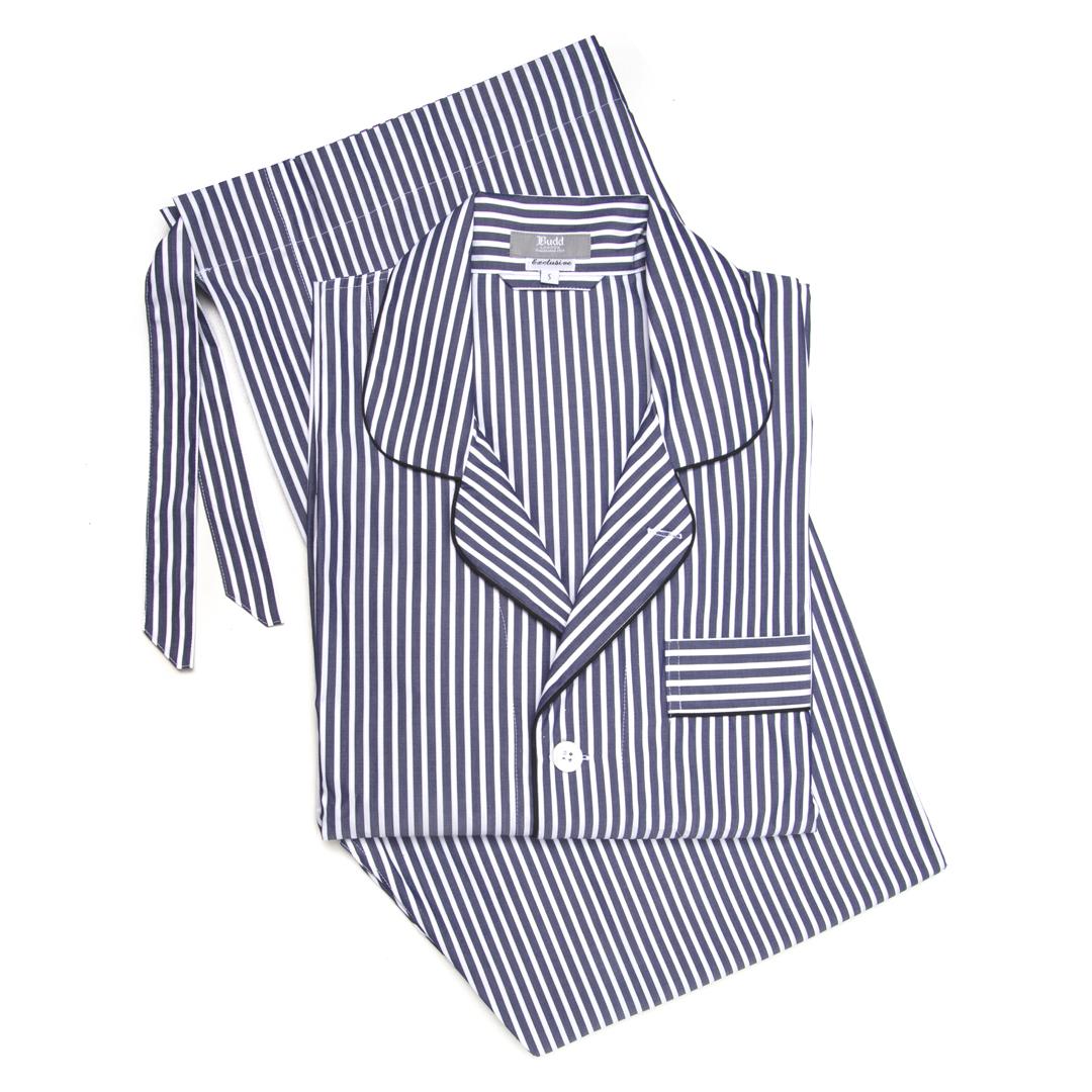 Exclusive Budd Stripe Pyjamas in Navy