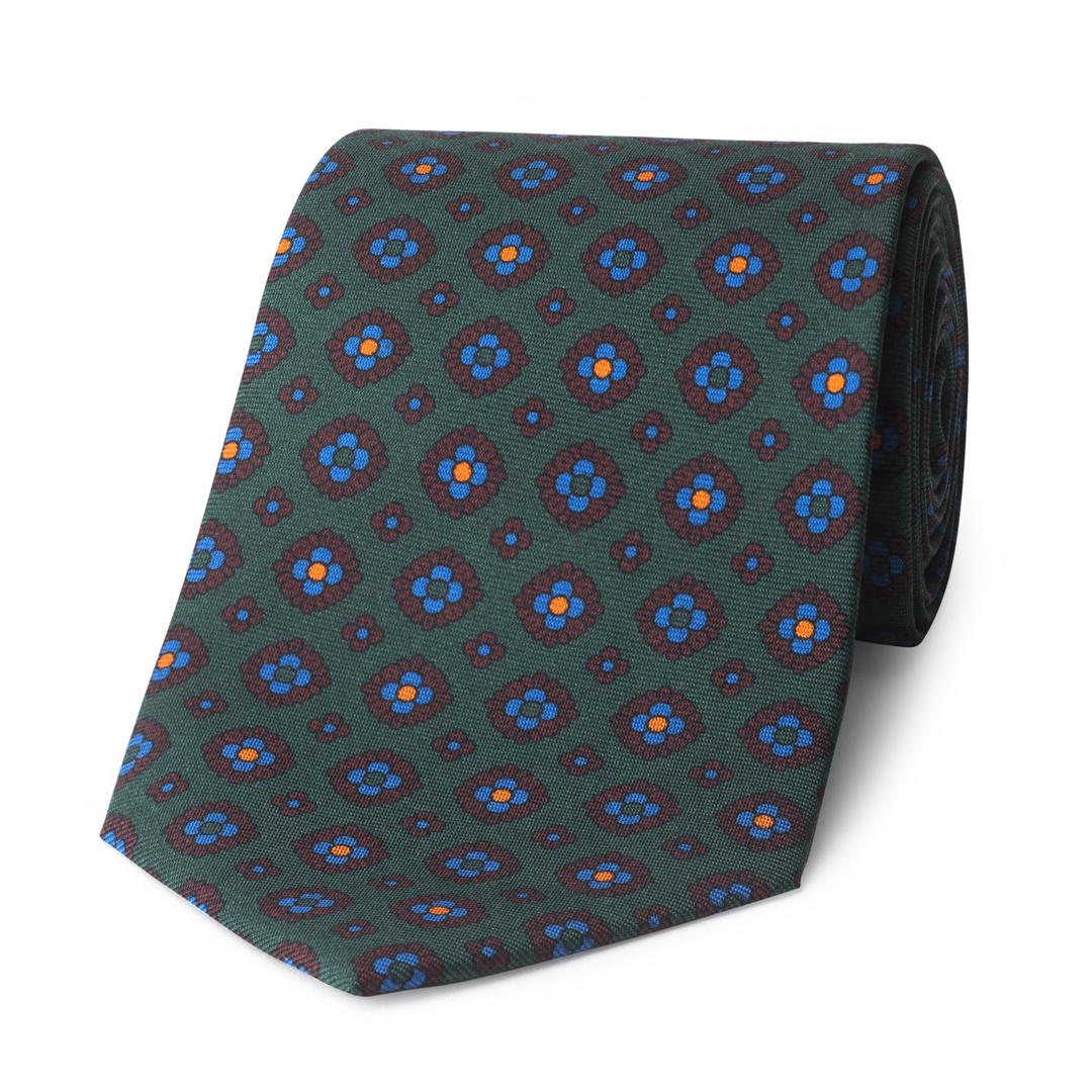 Coffer Madder Silk Tie in Green