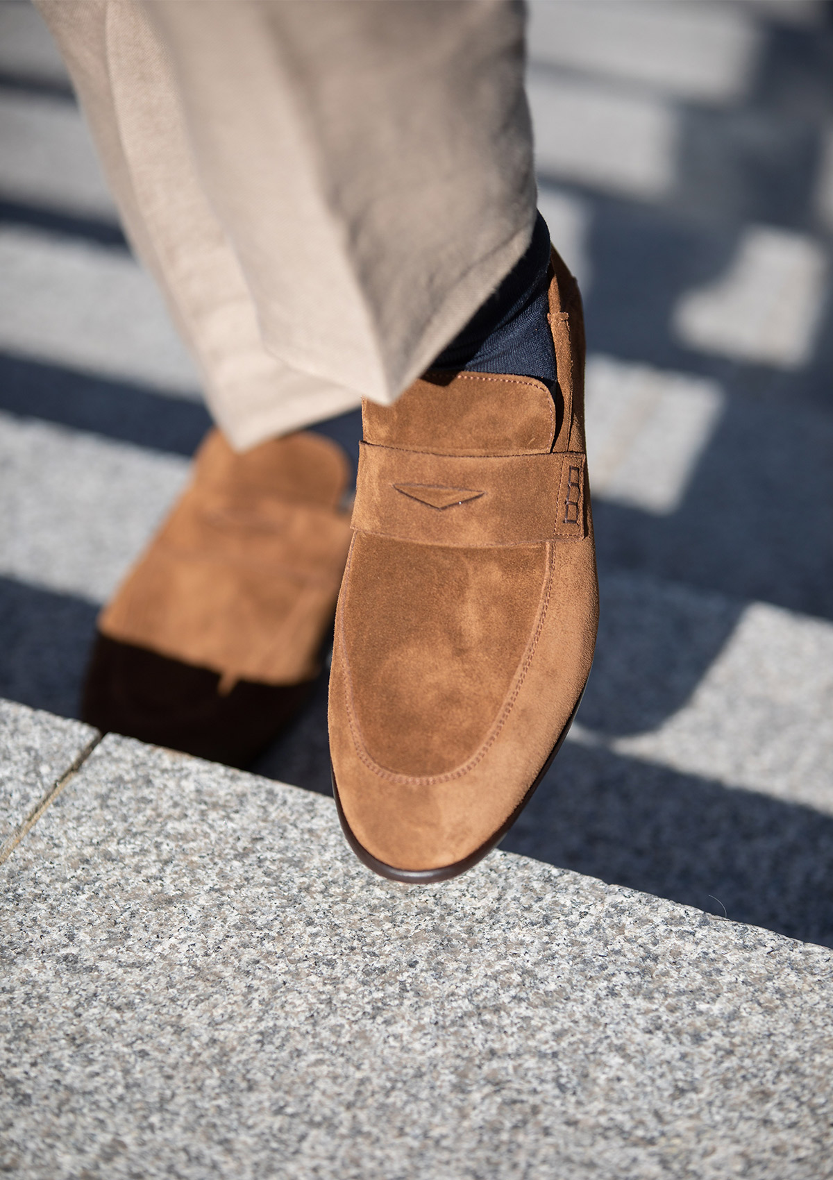 Harrys of London suede brown shoes