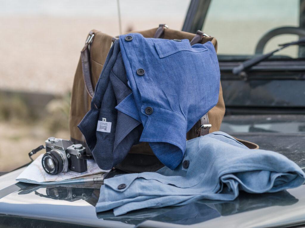 Budd Linen Safari Shirt Jackets